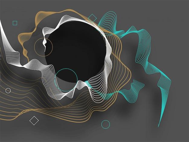 Fundo de ondas de cor abstrata