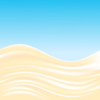 Fundo de ondas de creme de leite