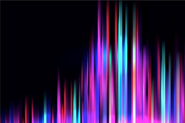 Fundo de ondas de equalização de luzes de néon