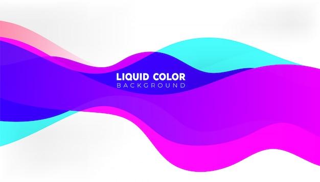 Fundo de ondas de gradiente líquido de capa de vetor