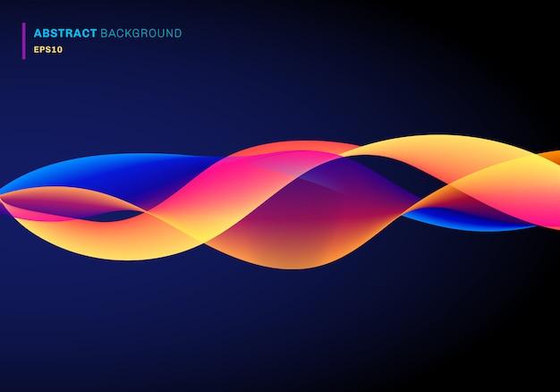 Fundo de ondas de linhas fluidas abstratas