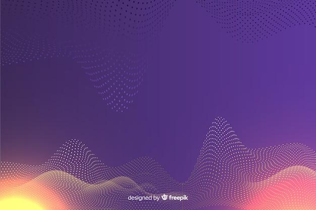 Fundo de ondas de partículas digitais abstratas