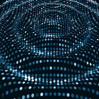Fundo de ondas digitais