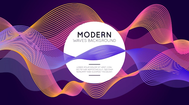 Fundo de ondas modernas