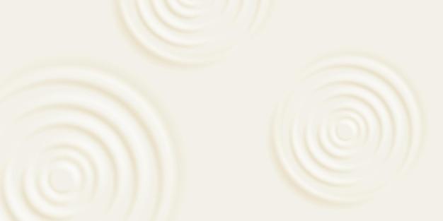 Fundo de ondulação de leite. creme cosmético ou shampoo com círculos concêntricos na superfície