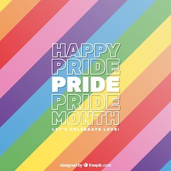 Fundo de orgulho do mundo colorido