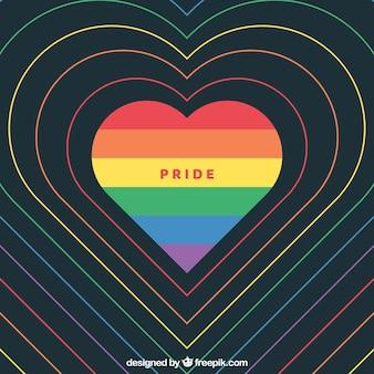 Fundo de orgulho do mundo moderno com coração