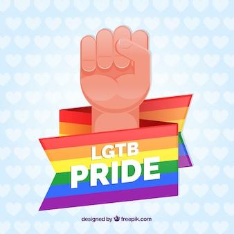 Fundo de orgulho lgtb com cores do arco-íris