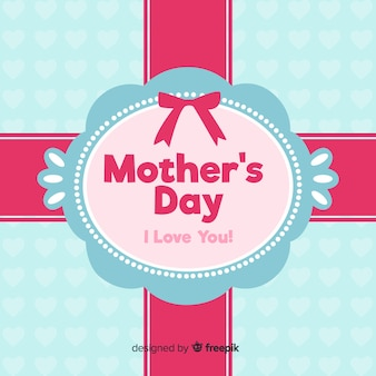 Fundo de ornamento plana de dia das mães