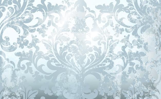 Fundo de ornamento vintage. projeto luxuoso da textura rococo barroco. decorações têxteis reais