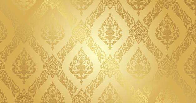 Fundo de ouro puro padrão tailandês