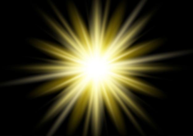 Fundo de ouro starburst