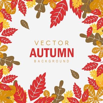 Fundo de outono colorido de vetor criativo