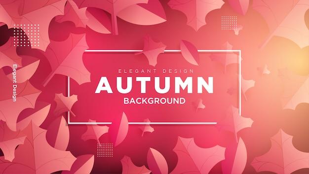 Fundo de outono com composição de folhas