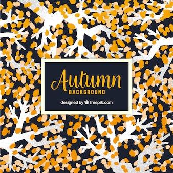 Fundo de outono com estilo aquarela