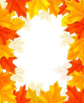 Fundo de outono com folhas coloridas.