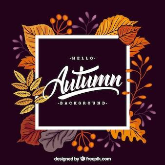 Fundo de outono com folhas diferentes