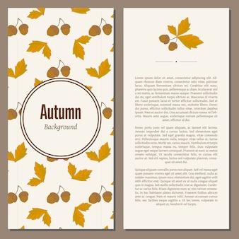 Fundo de outono com texto
