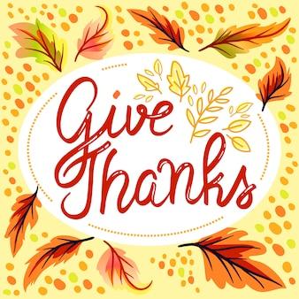 Fundo de outono de ação de graças