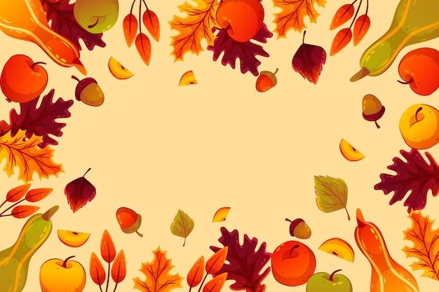 Fundo de outono detalhado