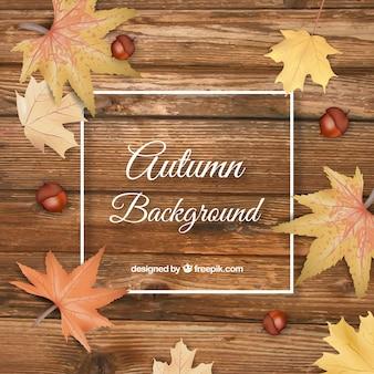 Fundo de outono em estilo realista