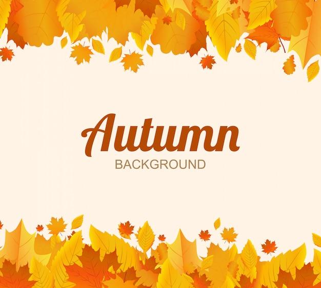Fundo de outono. folhas de árvore. design para a temporada de outono. ilustração vetorial