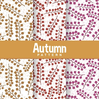 Fundo, de, outono, fruta, seamless, padrão
