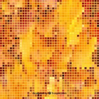 Fundo de outono pixelado
