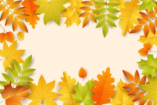 Fundo de outono realista