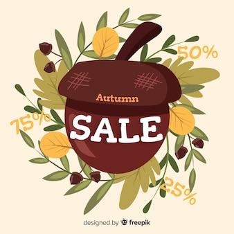 Fundo de outono vendas bonito