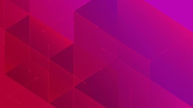 Fundo de padrão abstrato de conexão de blocos geométricos digitais