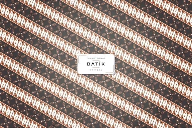 Fundo de padrão de batique tradicional vintage