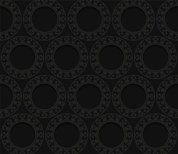 Fundo de padrão de borda escura