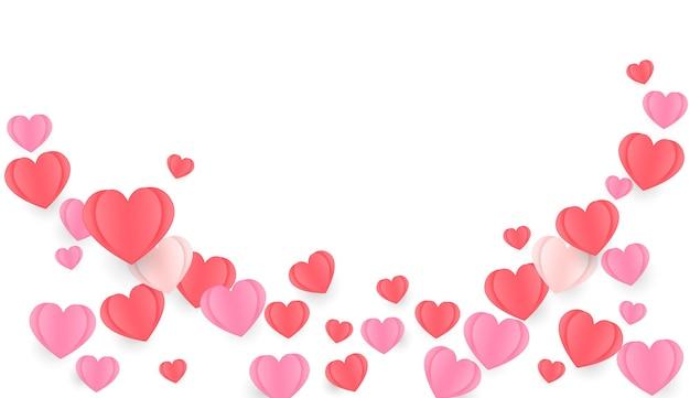 Fundo de padrão de coração
