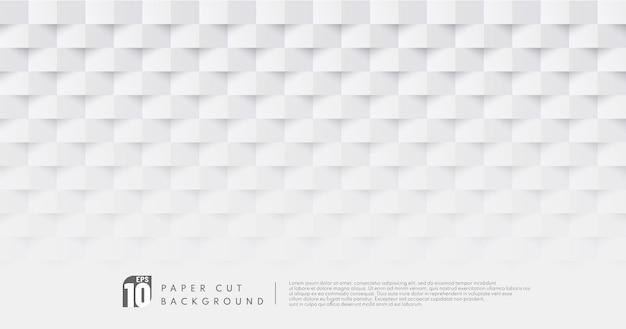 Fundo de padrão de desenho de corte de papel branco e cinza
