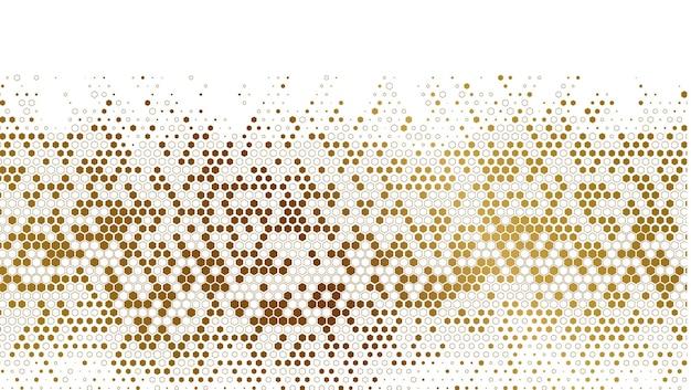 Fundo de padrão de dispersão hexagonal de luxo