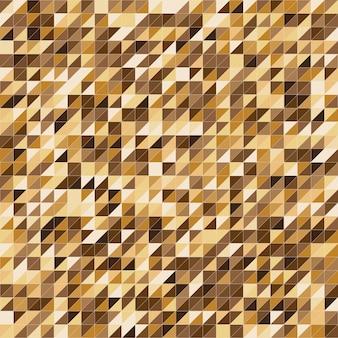 Fundo de padrão de faixa de cor de ouro pixelizada