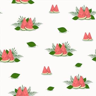 Fundo de padrão de fatia de melancia