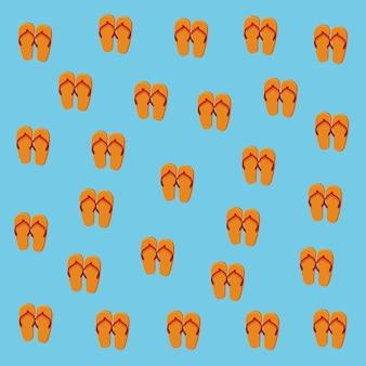 Fundo de padrão de flip-flops de verão
