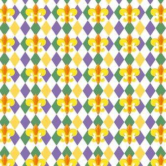 Fundo de padrão de flor de lis