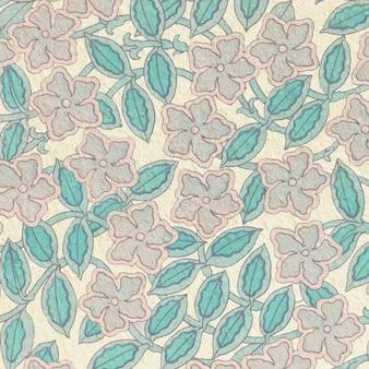 Fundo de padrão de flor de pervinca art nouveau