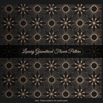 Fundo de padrão de flor geométrico luxuoso