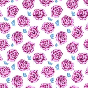 Fundo de padrão de flores roxas