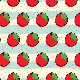 Fundo de padrão de fruta de maçã