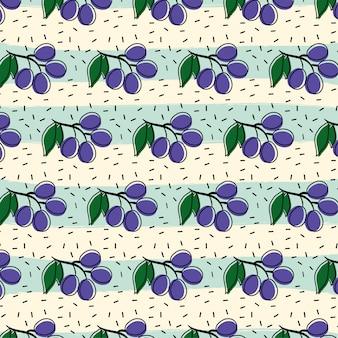 Fundo de padrão de fruta uva