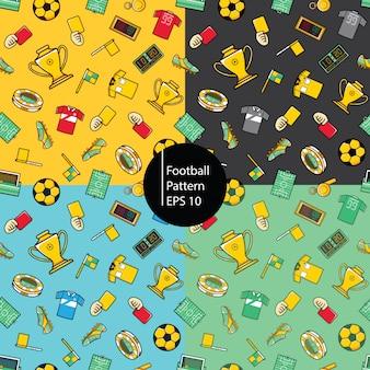Fundo de padrão de futebol
