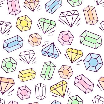 Fundo de padrão de gemas multicoloridas