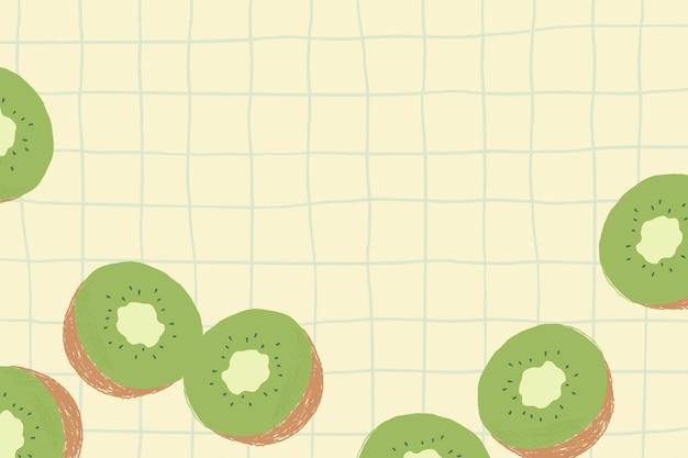 Fundo de padrão de grade de borda de canto kiwi