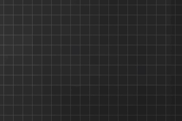 Fundo de padrão de grade estética mínima vetorial preto