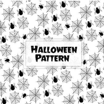Fundo de padrão de halloween de mão desenhada